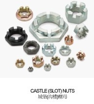hex slotted and castle nuts