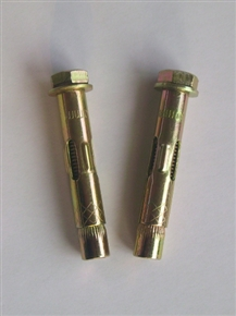 sleeve anchor with hex bolt.,zinc yellow zinc plated