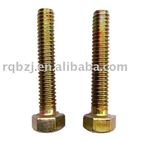 YELLOW ZINC PLATED HEX BOLTS