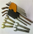 Hand tools for hex screws or hexagon socket screws
