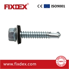 DIN7504K ZP Self drilling screw with blk epdm washer