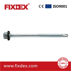 Hex head self-drilling screw with EPDM washer 14#*5