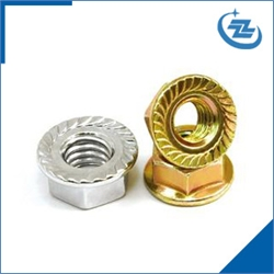 flange nut yellow zinc