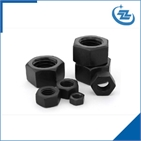 High tensile hex nut grade 8.8 black zinc