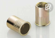 Rivet nut with reduce head half knurled body