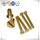 Fastener Supplier CSK Head Slotted Yellow Zinc Full Thread Machine Screw