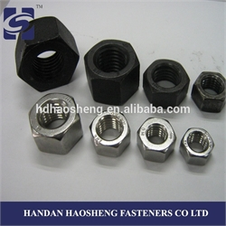 grade 6 hex nuts DIN 934 Black with ISO 9001: 2008