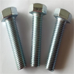 Good Quality Carbon Steel Blue Galvanized Grade 8.8 M12 Full Thread Hex Bolt
