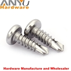 410 stainless steel self drilling screw with pan head type and plain finish