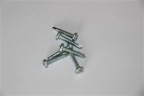 Cross recessed pan head drilling screws