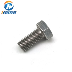DIN933 Stainless Steel 316L Hexagon Head Hex Bolt