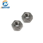 Stainless Steel SS304 SS316 316L Hex Weld Nuts