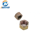 Metric Hex Nuts Class 10 Hardened Yellow Zinc Plated Coarse Thread