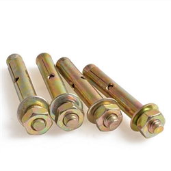 yellow zinc plated expansion anchor bolt