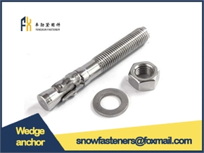 cheaper price with good quality wedge anchor grade4.8 carbon steel