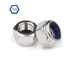 SUS304 Hex Lock Nut (BLUE NYLON WASHER LOCK NUT) DIN982