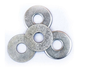Flat washer white zinc carbon steel grade 4.8/8.8