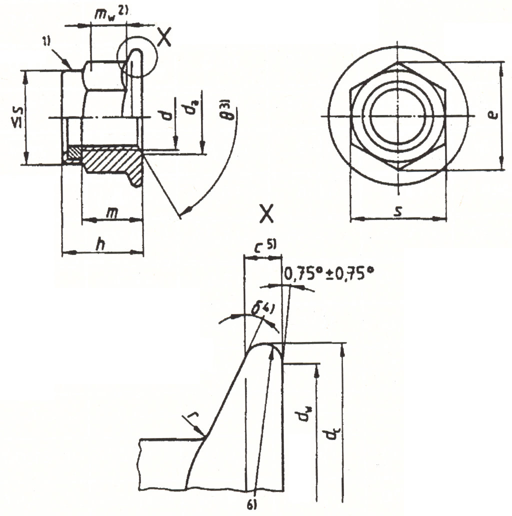 DIN EN 1663 - Prevailing torque type hexagon nuts with flange(with