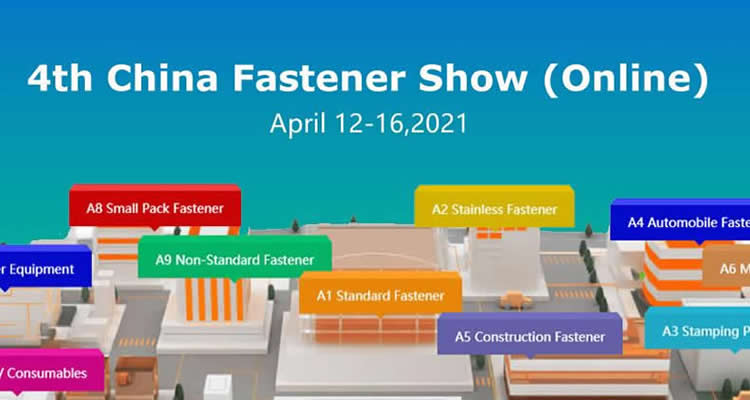 2021 China Fastener Show Online will be held from April 12 to 16